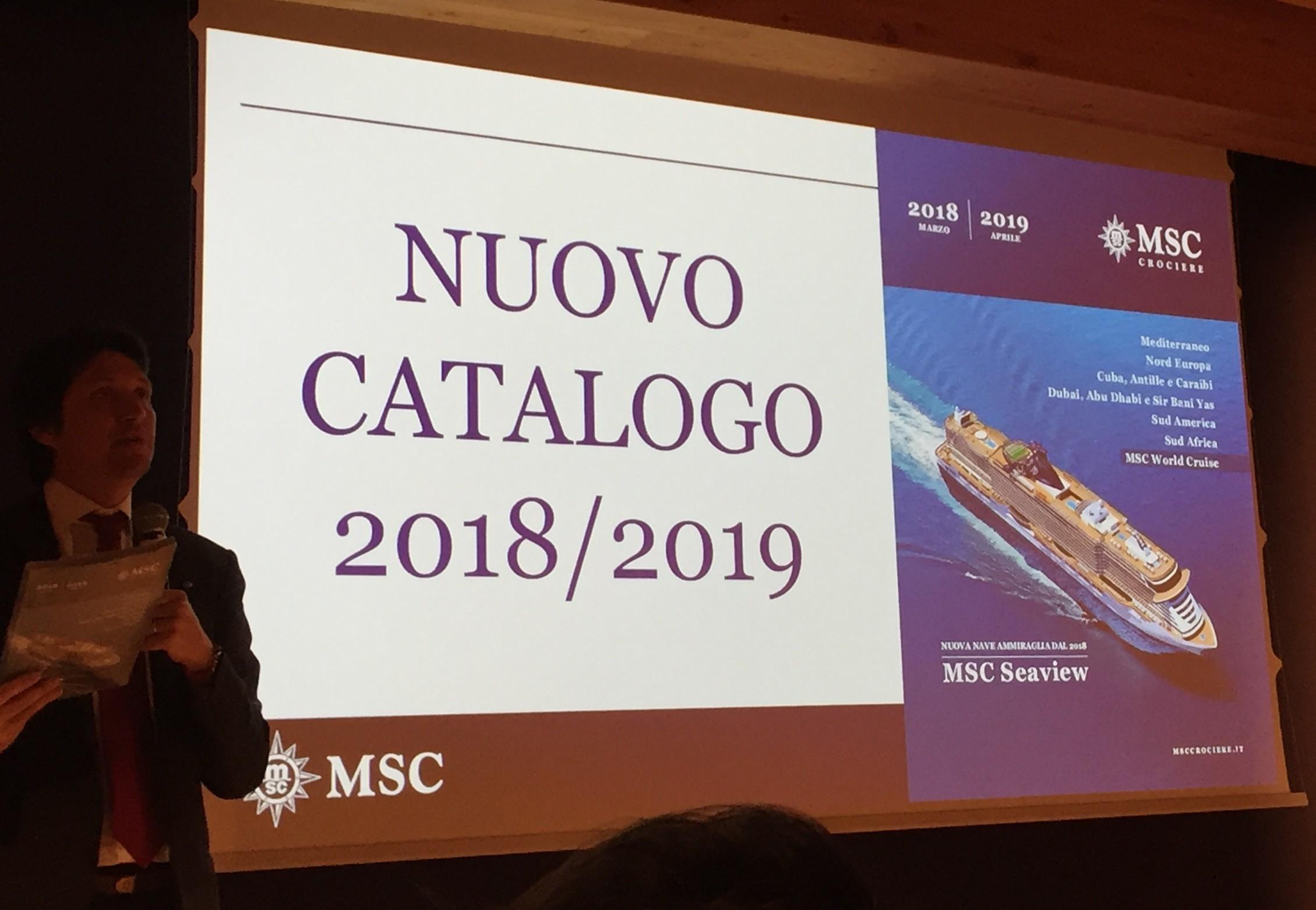 nuovo catalogo 2018 2019 msc crociere il pensiero di